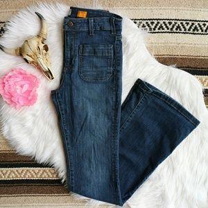 Pilcro // Superscript High Rise Flare Jeans